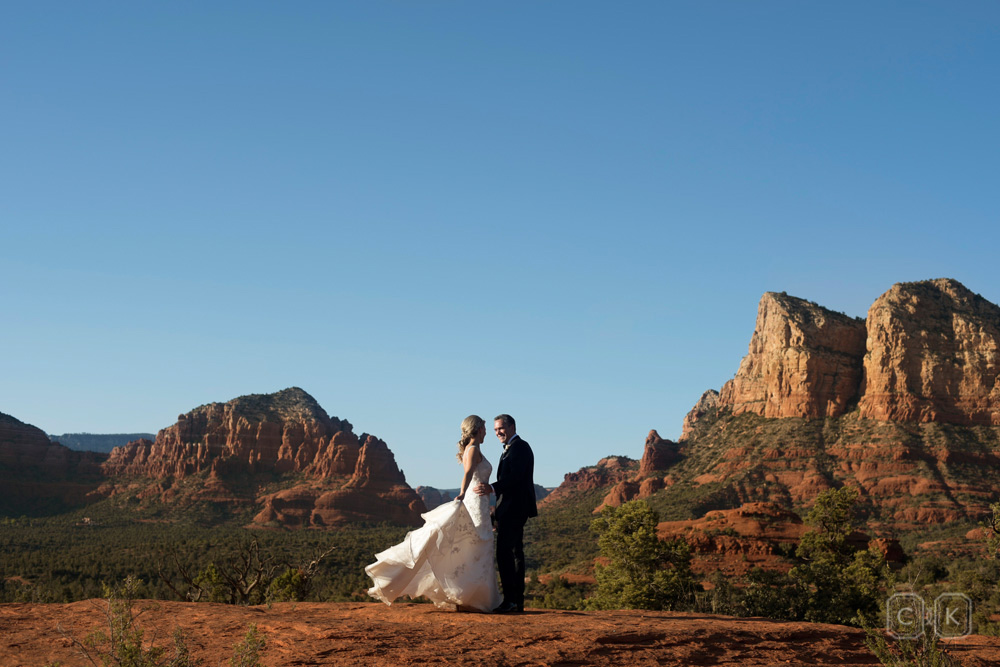Sedona vista wedding